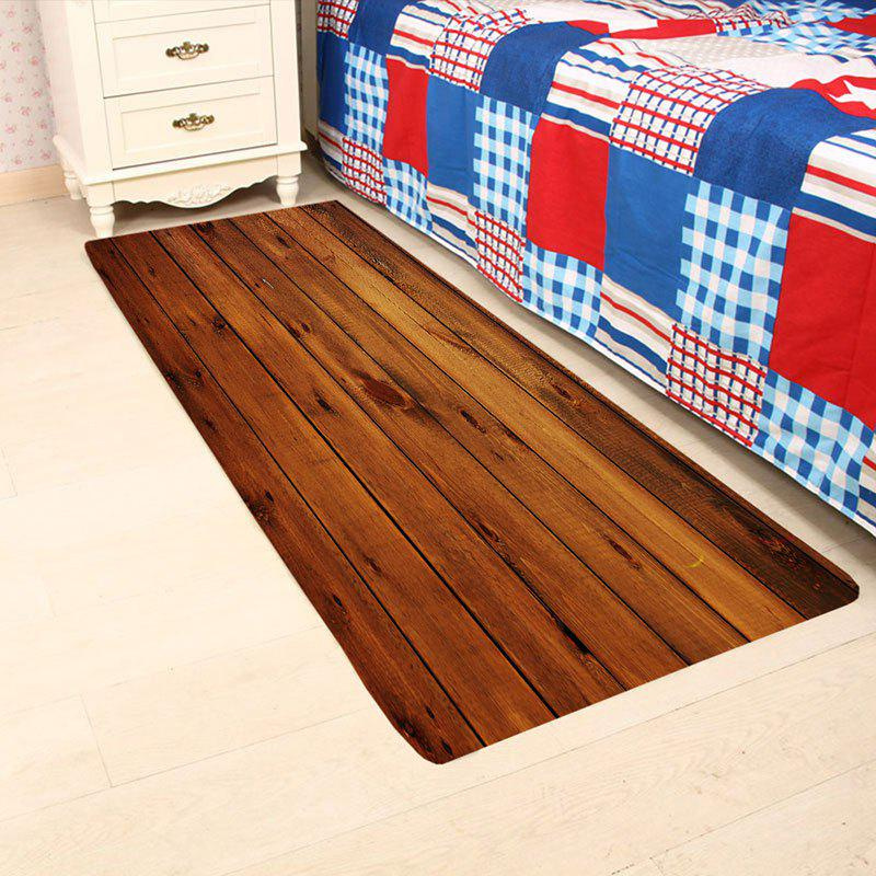 Wood Board Pattern Skidproof Rug - BROWN W24 INCH * L71 INCH