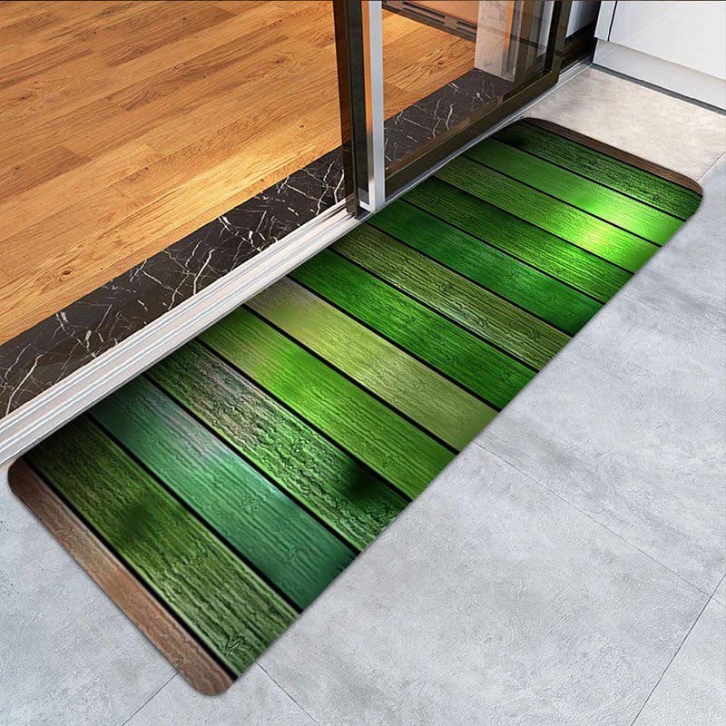 Wood Flooring Pattern Non-slip Floor Area Rug - GREEN W16 INCH * L47 INCH