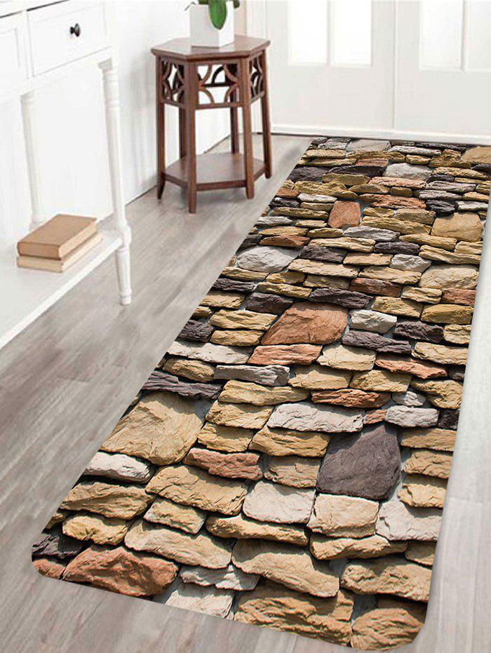Gravel Stones Print Indoor Outdoor Area Rug - BROWN W16 INCH * L47 INCH