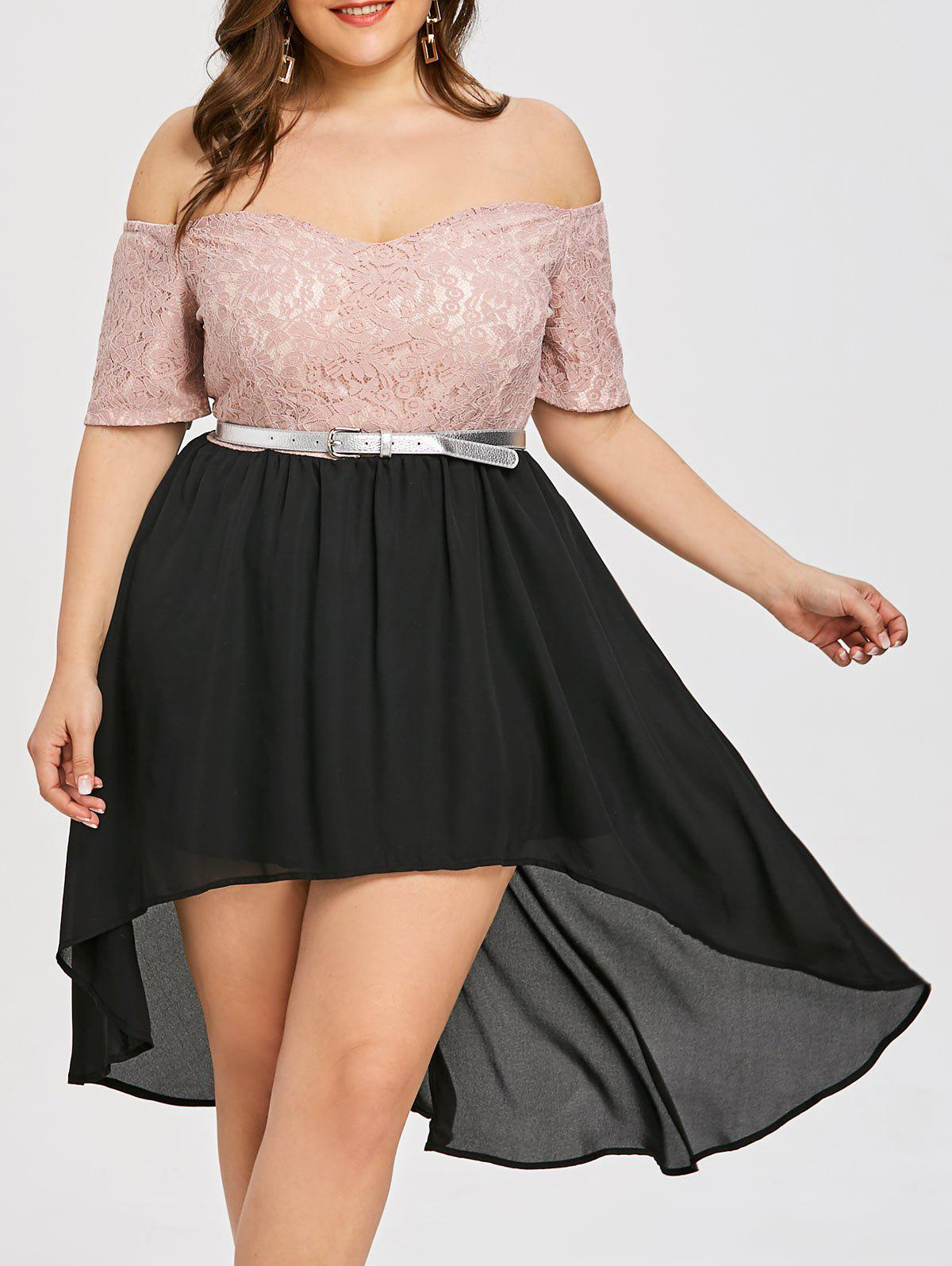 2018 Plus Size Off The Shoulder Homecoming Dress Blackpink Xl In