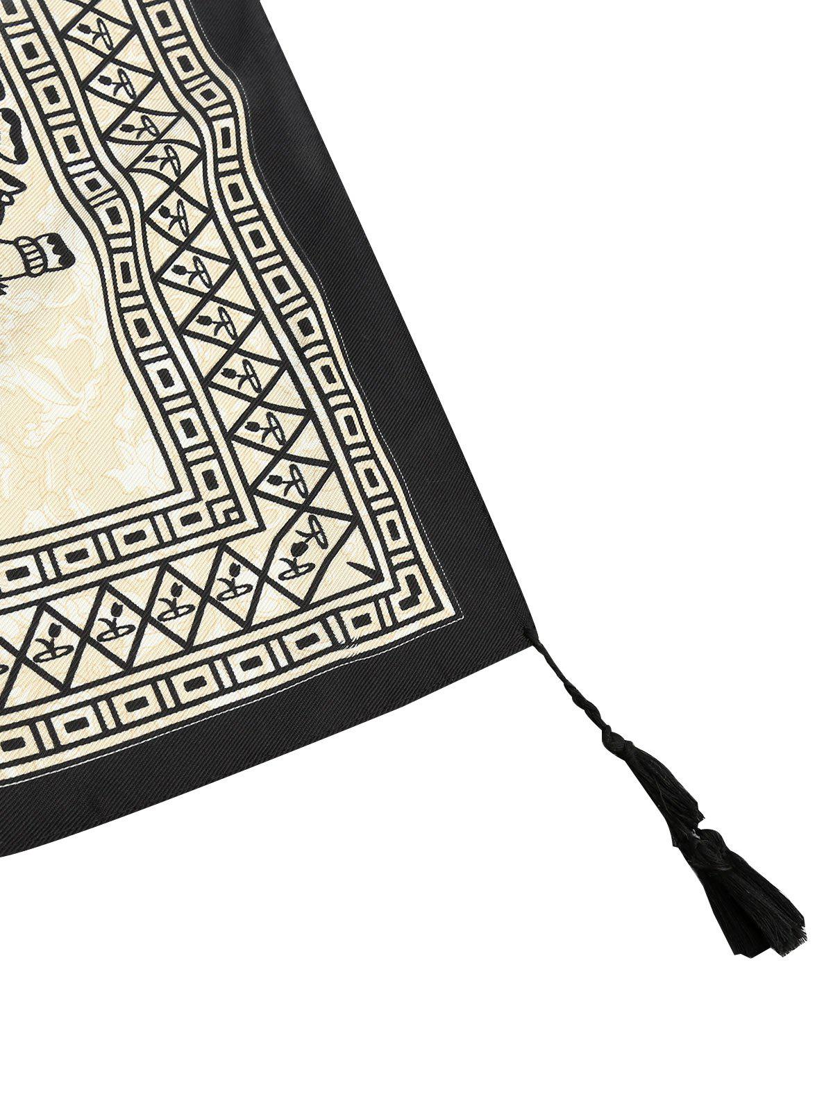 Tassel Ethnic Elephant Beach Throw - BLACK ONE SIZE