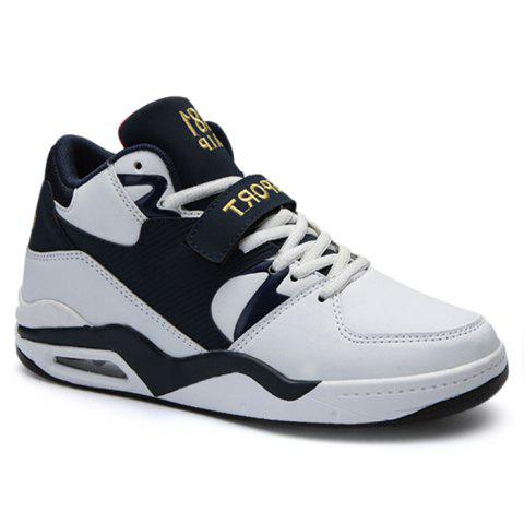 Air Cushion Letter Athletic Shoes - WHITE 42