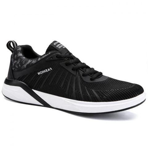 Splicing Air Cushion Athletic Shoes - BLACK WHITE 44
