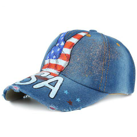 Victory Gesture Pattern Hand Drawing Baseball Hat - 03