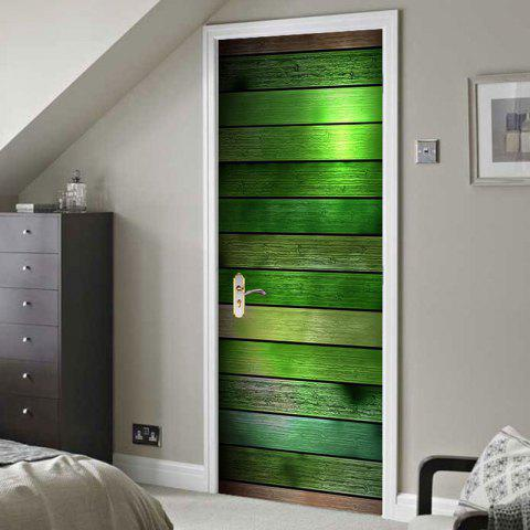 Colorful Wood Board Pattern Door Art Decals - COLORFUL 38.5*200CM*2PCS