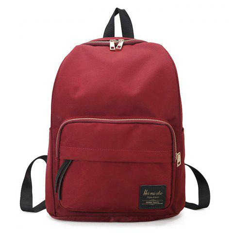 Minimalist Backpack with Handle - RED