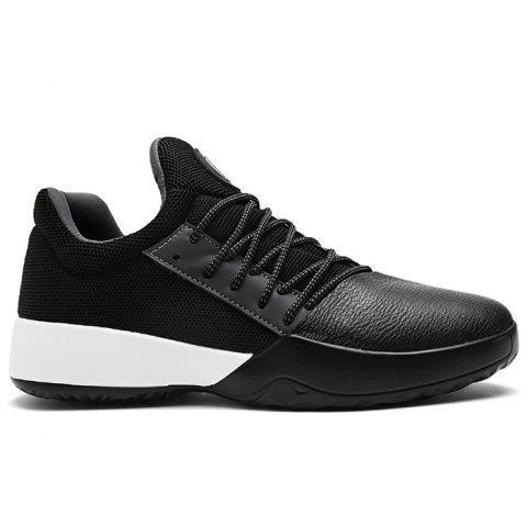 Casual Color Block Running Sneakers - BLACK 44