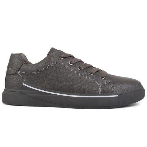 Round Toe Lace Up Skate Shoes - GRAY 41