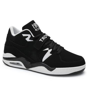 Air Cushion Letter Athletic Shoes - BLACK BLACK