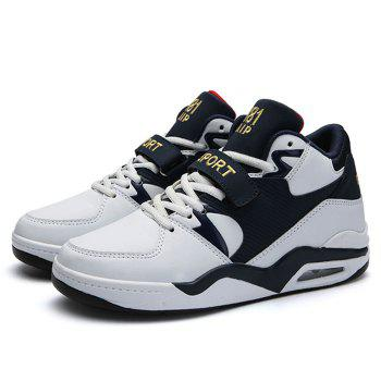 Air Cushion Letter Athletic Shoes - WHITE 43