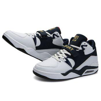 Air Cushion Letter Athletic Shoes - WHITE WHITE