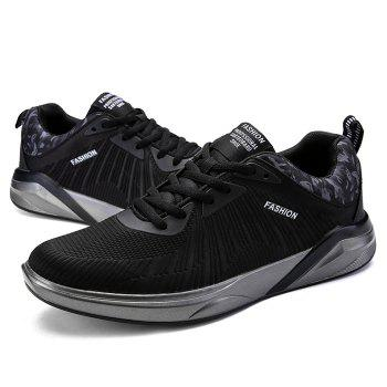 Splicing Air Cushion Athletic Shoes - BLACK BLACK