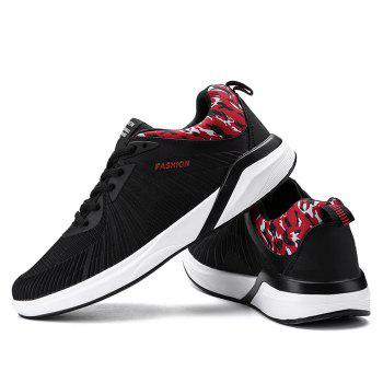 Splicing Air Cushion Athletic Shoes - BLACK/RED BLACK/RED