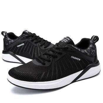 Splicing Air Cushion Athletic Shoes - BLACK WHITE 43