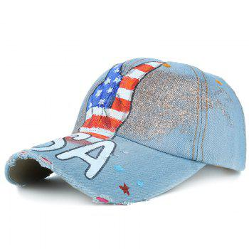 Victory Gesture Pattern Hand Drawing Baseball Hat - #02