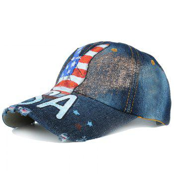 Victory Gesture Pattern Hand Drawing Baseball Hat - #05