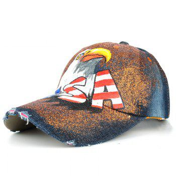 Unique Hand Drawing Eagle Pattern Snapback Hat - #05