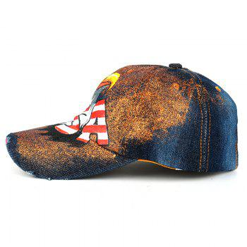 Unique Hand Drawing Eagle Pattern Snapback Hat -