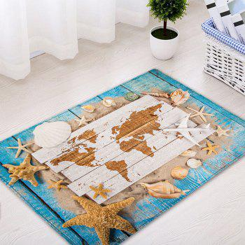 Sand Shell Starfish Pattern Floor Area Rug - COLORMIX W16 INCH * L24 INCH