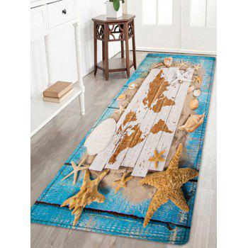 Sand Shell Starfish Pattern Floor Area Rug - COLORMIX COLORMIX