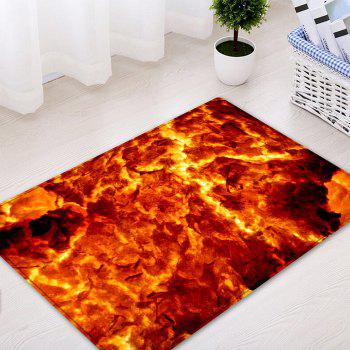 Lava Pattern Floor Area Rug - FLAME RED W16 INCH * L24 INCH