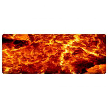 Lava Pattern Floor Area Rug - FLAME RED W16 INCH * L47 INCH