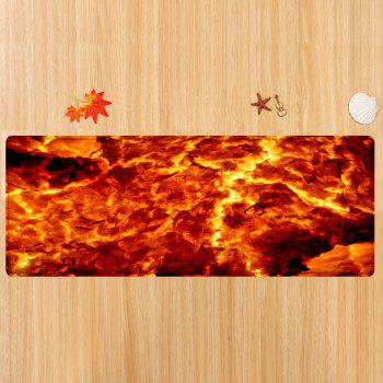 Lava Pattern Floor Area Rug - FLAME RED W24 INCH * L71 INCH