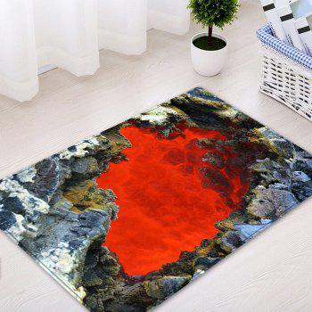 Ablaze Rock Cave Pattern Floor Area Rug - RED W16 INCH * L24 INCH