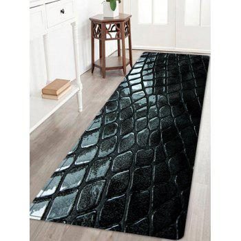 Cobblestone Pattern Floor Area Rug - BLACK BLACK
