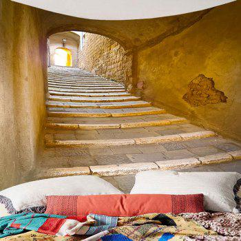 Brick Tunnel Printed Waterproof Wall Hanging Tapestry - BROWN W71 INCH * L71 INCH