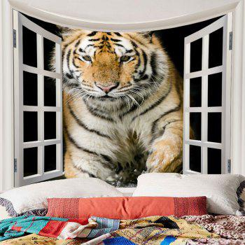 Art Decor Tiger Printed Waterproof Hanging Tapestry - BROWN W71 INCH * L71 INCH
