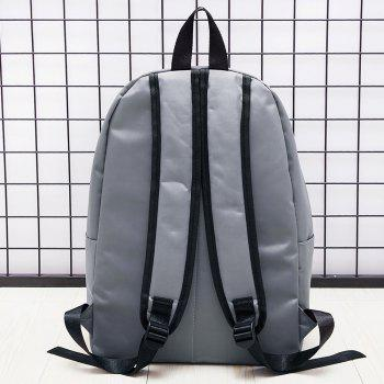 Contrasting Color Striped Backpack -  GRAY