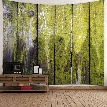 Hanging Old Wood Board Printed Wall Decor Tapestry - GREEN W79 INCH * L71 INCH
