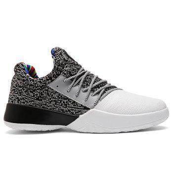 Casual Color Block Running Sneakers - GREY AND WHITE GREY/WHITE