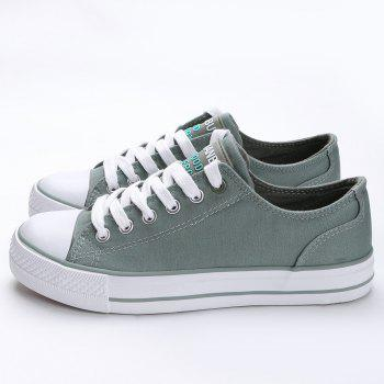 Casual Canvas Skate Shoes - ARMY GREEN 38