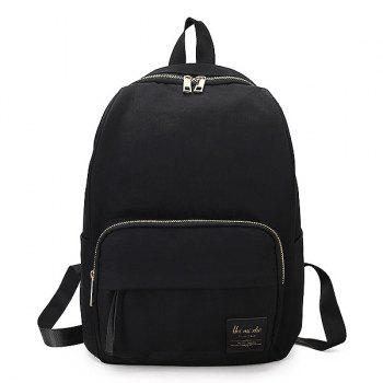 Minimalist Backpack with Handle - BLACK BLACK
