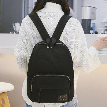 Minimalist Backpack with Handle -  BLACK