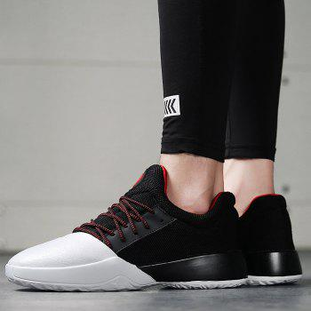 Casual Color Block Running Sneakers - WHITE/BLACK WHITE/BLACK