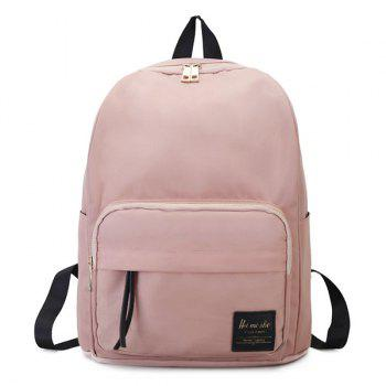 Minimalist Backpack with Handle - PINK PINK