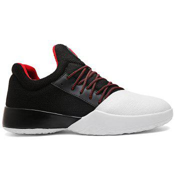 Casual Color Block Running Sneakers - WHITE AND BLACK WHITE/BLACK