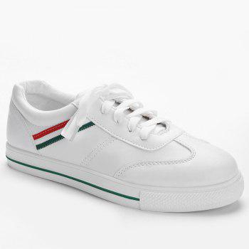 Color Block Striped Stitching Sneakers - GREEN GREEN