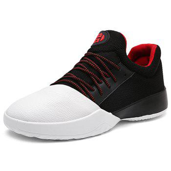 Casual Color Block Running Sneakers - WHITE/BLACK 40