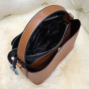 Bow Handbag with Shoulder Strap -  BROWN