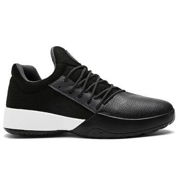 Casual Color Block Running Sneakers - BLACK BLACK