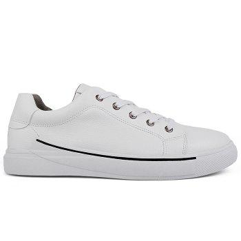 Round Toe Lace Up Skate Shoes - WHITE WHITE