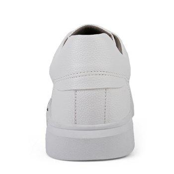 Round Toe Lace Up Skate Shoes - WHITE 39