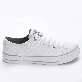 Casual Canvas Skate Shoes - WHITE 36