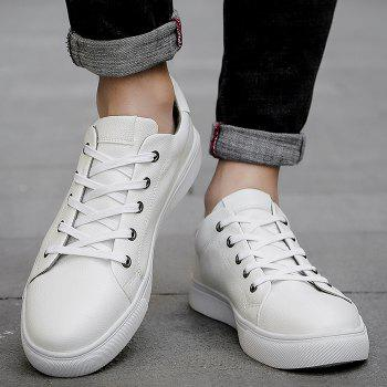 Round Toe Lace Up Skate Shoes - WHITE 40