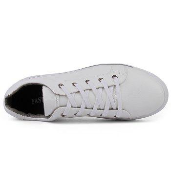 Round Toe Lace Up Skate Shoes - WHITE 41