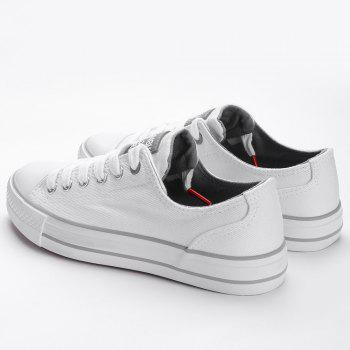 Casual Canvas Skate Shoes - WHITE 35